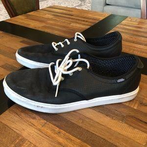 Black Suede Vans Sneakers. Size 11.5